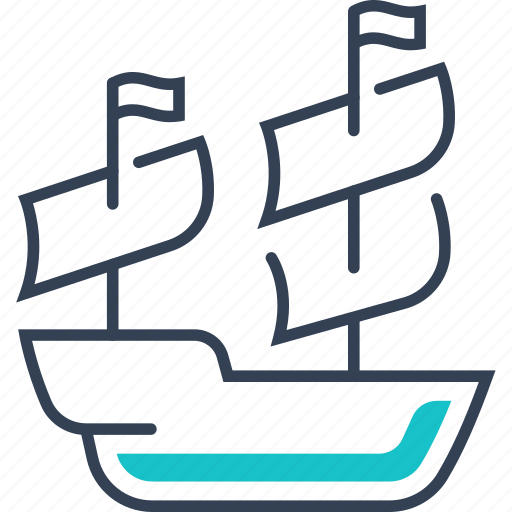 maritime, pirates, ship, transport icon