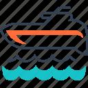 maritime, sea, swim, transport icon