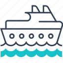 journey, maritime, ocean, ship, transport icon