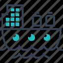 maritime, port, ship, transport, transportation icon