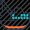 crane, maritime, steamship, transport icon