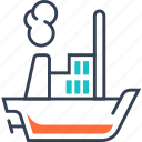 maritime, steamship, transport, truck icon