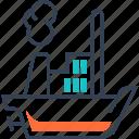 maritime, steamship, transport, truck