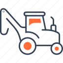 garden, maritime, tractor, transport icon