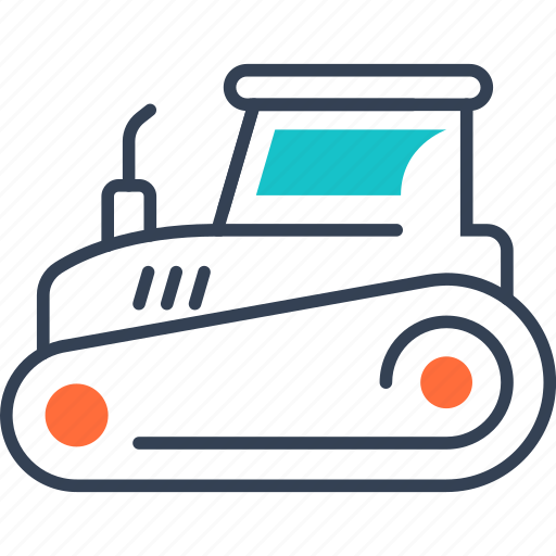 maritime, tehnology, tractor, transport icon