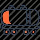 maritime, train, transport, wagoon icon