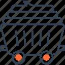 maritime, transport, truck, wagoon icon