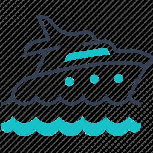 maritime, sea, ship, sports, transport, yahct icon