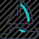 maritime, ship, transport, yahct icon