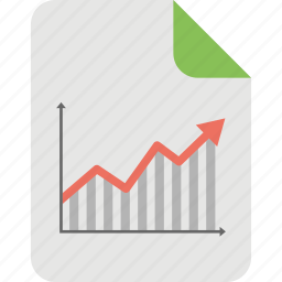 business analysis, business growth, business report, graph sheet, market analysis icon