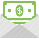 cash in envelope, income, money transfer, payment, wages