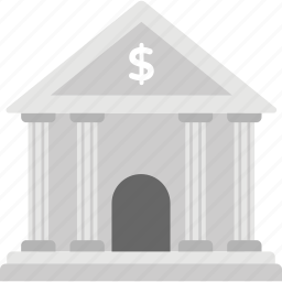 bank, bank building, bank exterior, bank office, stock exchange icon