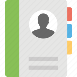 account book, address book, contacts, telephone book, yellow pages icon