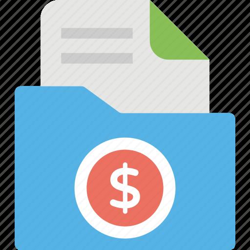 bank statements, bill organizer, budget planner, financial folder icon