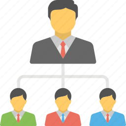business organization, business team, business team structure, team hierarchy, team structure icon