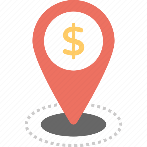 bank location pin, bank locator, business location, currency exchange, dollar map pin icon