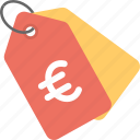 euro tag, price label, price tag, sale label, sale tag icon