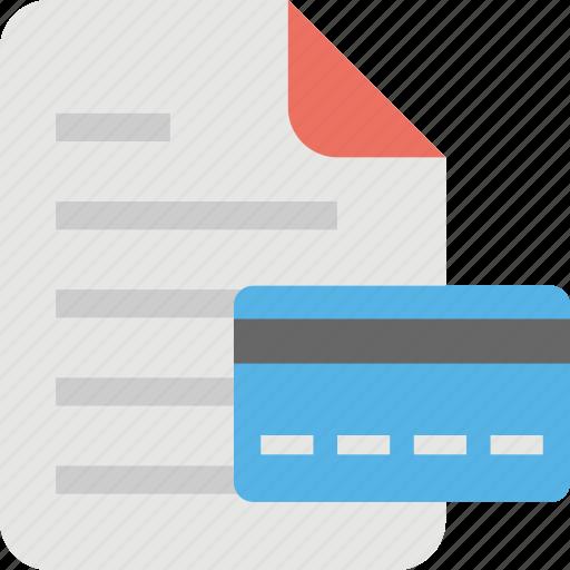 bank statement, bill, cash receipt, invoice, shopping receipt icon