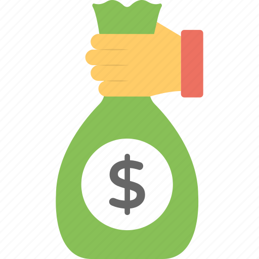 assets, investment, money pouch, saving, saving money concept icon