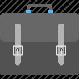 briefcase, business bag, carrying case, documents bag, portfolio bag icon