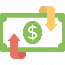 equity, financial return, profit, rate of return, refund icon