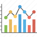 analytics, bar chart, bar diagram, modern arrow bar chart, statistics icon