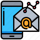 email, graph, marketing, smartphone, technology