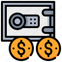 currency, dollar, fund, money, protection, safety icon