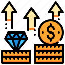 currency, goal, growth, money, saving, term icon