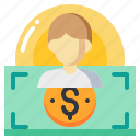 cost, currency, dollar, human, man, money icon