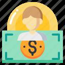 cost, currency, dollar, human, man, money