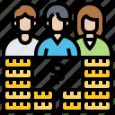 budget, costs, employee, profit, salary icon