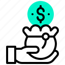 bag, budget, currency, dollar, money, wallet icon