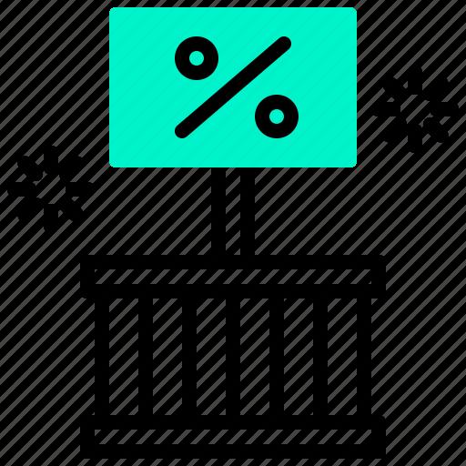 advertising, box, discount, marketing, percent, sale icon