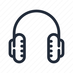 audio, earphones, headphones, market, stroke icon