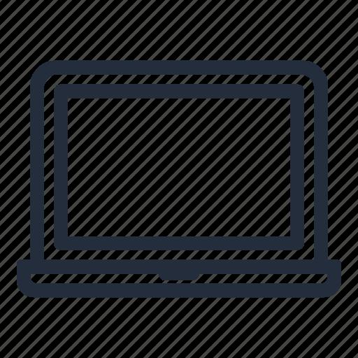 laptop, mac air, mac book, market, stroke icon
