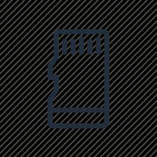 market, memory card, micro, micro sd, sd, stroke icon