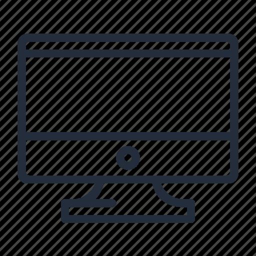 desktop, imac, market, monitor, screen, stroke icon