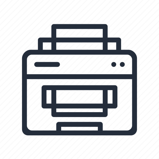 fax, market, peripherals, print, printer, stroke icon