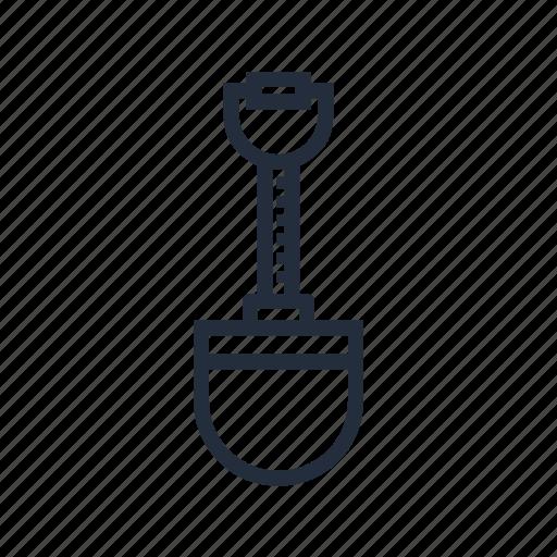 market, shovel, shovel to dig, spade, store, stroke icon