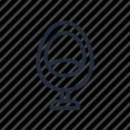 chair, furniture, market, stroke icon