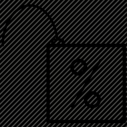 discount, free, mall, market, shop, shopping, unlock icon