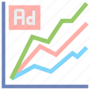 ad, research, stats, tracking icon