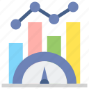 benchmark, market, research icon
