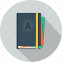 agenda, diary, moleskine, notepad, schedule icon
