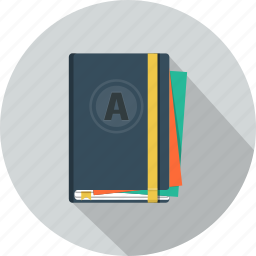 agenda, diary, moleskine, notepad, schedule icon