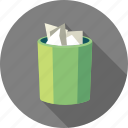 bin, delete, document, recycle, remove, trash icon