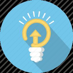bulb, creative, energy, idea, power icon