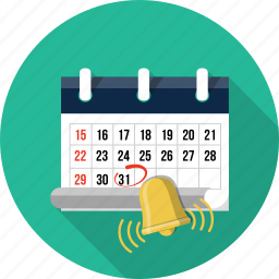 appointment, bell, calendar, date, event, reminder, schedule icon