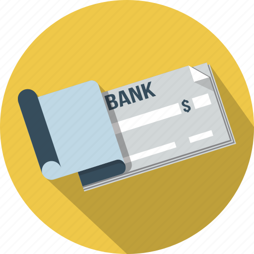 bank, business, cash, check, financial, payment icon